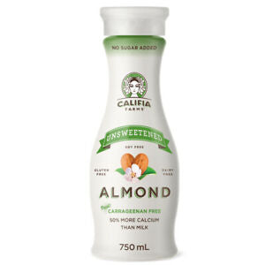 Califia Farms Unsweetened Almond Drink 750ml, No Added Sugar