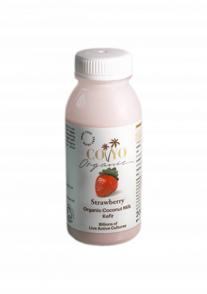 Coyo Organic Coconut Milk Kefir Strawberry 200ml