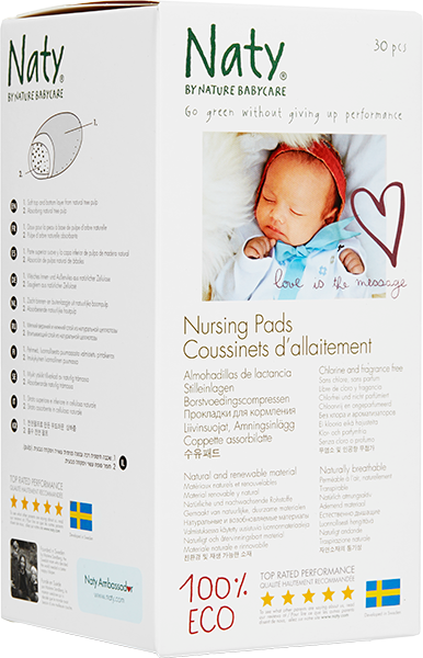Naty Nursing Pads, 12 pieces