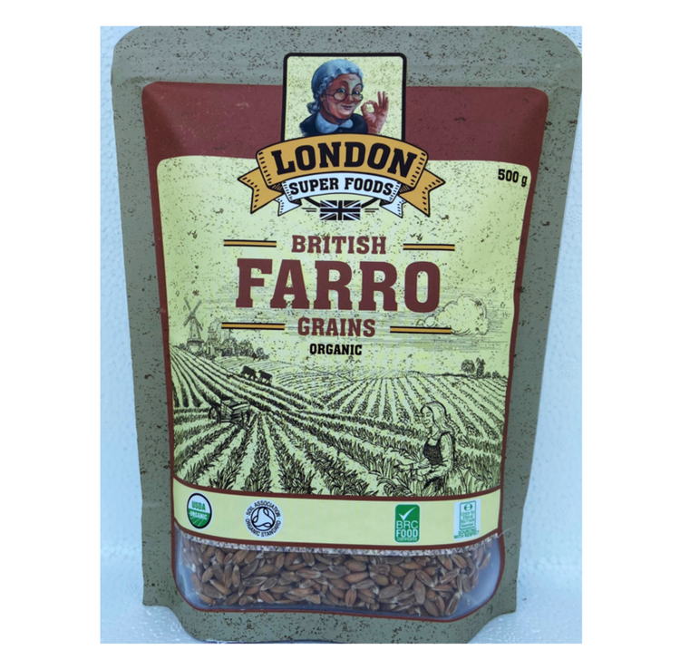London Super Foods Organic Farro Grains 500g
