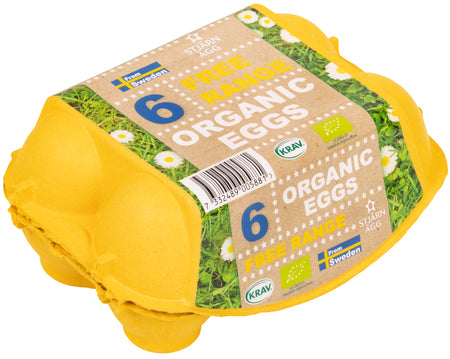 Stjarn Agg Organic & Free Range White Eggs, 6 pieces