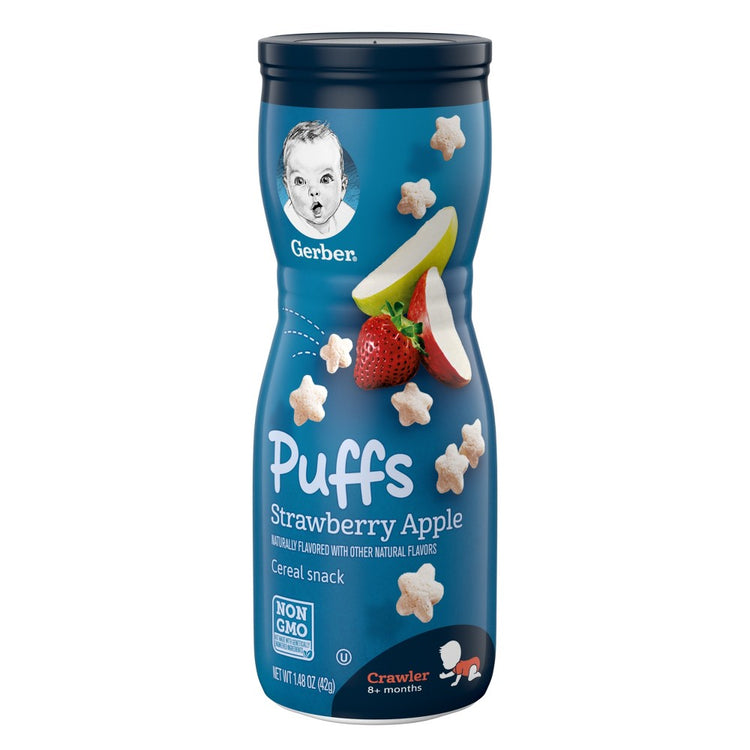 Gerber Puffs Strawberry Apple Cereal Snack 42g