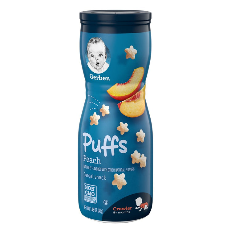 Gerber Puffs Peach Cereal Snack 42g