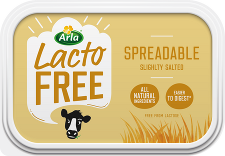 Arla Lactofree Spreadable Butter Slightly Salted 250g