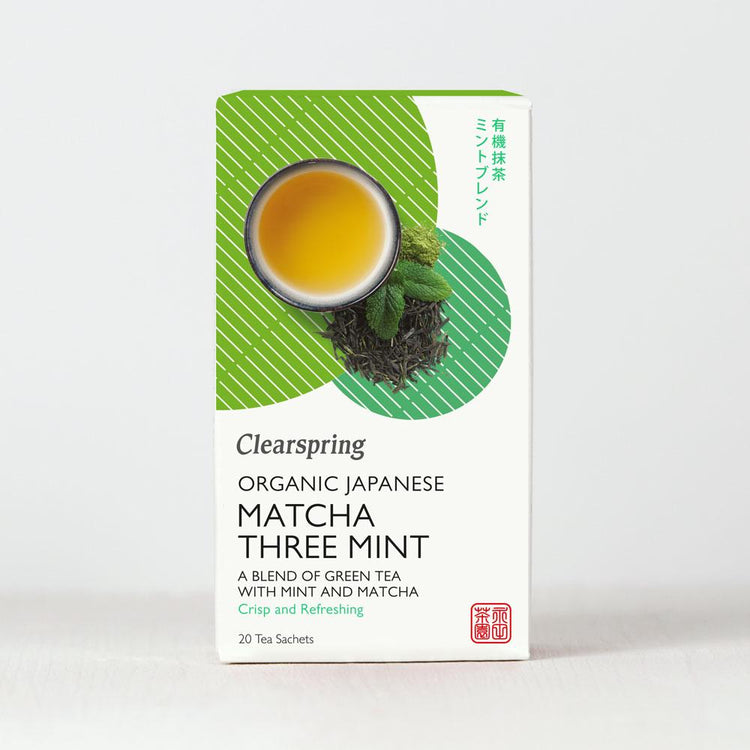 Clearspring Organic Japanese Matcha Three Mint Green Tea 20 tea sachets