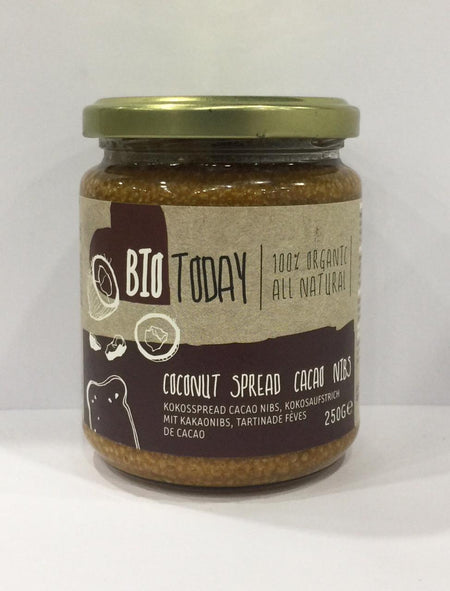 Bio Today Organic Coconut Spread Cacao Nibs 250g