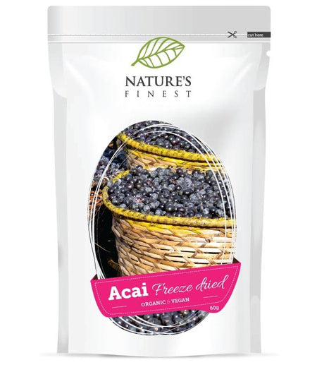 Nature's Finest Organic & Vegan Acai Freeze Dried 60g