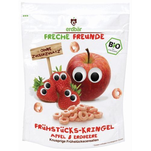 Freche Freunde Organic Cereal Hoops Apple & Strawberry 125g