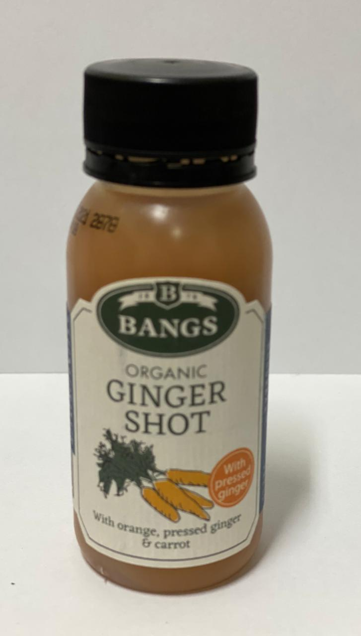 Bangs Organic Ginger Shot with Orange & Carrot 60 ml