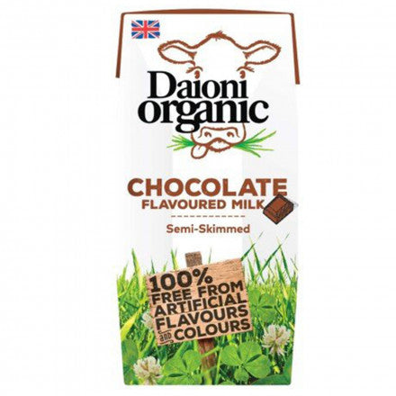 Daioni Organic Chocolate Flavoured Milk Semi-Skimmed 200ml