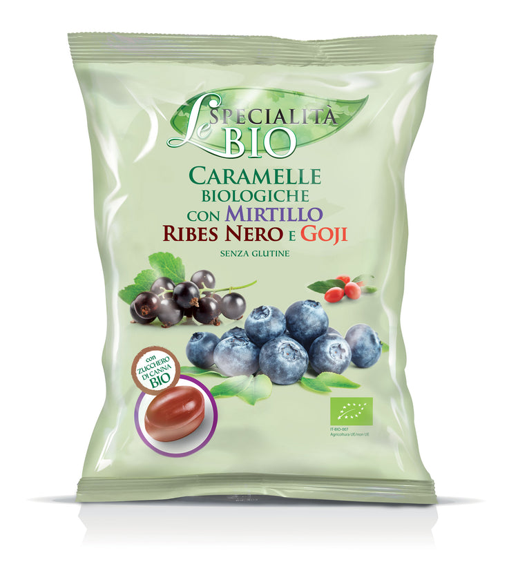 Le Specialita Bio Organic Bilberry, Blackcurrant & Goji Filled Candy 80g