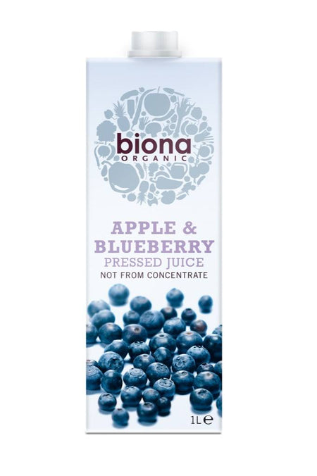 Biona Organic Apple & Blueberry Juice 1L