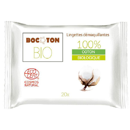 Bocoton Bio 100% Coton Make-up Removal Wipes 20s