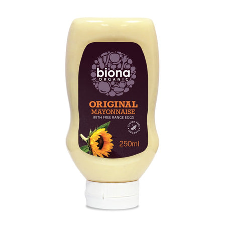 Biona Organic Original Squeezy Mayonnaise with Free Frange Eggs 250ml