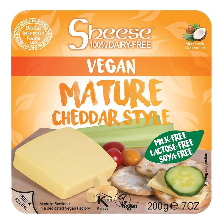 Cheese Vegan Mature Cheddar Style 200g