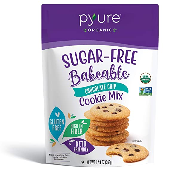 Pyure Organic Sugar- Free Bakeable Chocolate Chip cookie Mix 368g