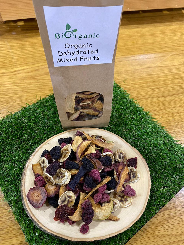 Home Made Organic Dehydrated Mixed Fruits 125g