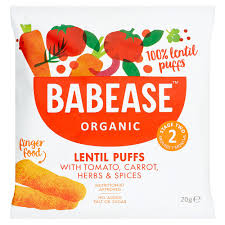 Babease Organic Lentil Puffs with Tomato, Carrot, Herbs & Spices 20g