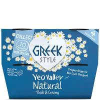 Yeo Valley Organic Greek Style Natural Yogurt 4x120g
