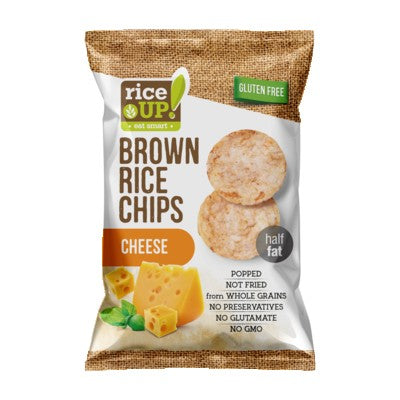 Rice Up Gluten Free Brown Rice Chips Cheese 60g