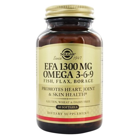 Solgar EFA 1300 MG OMEGA 3-6-9, 60 Softgels