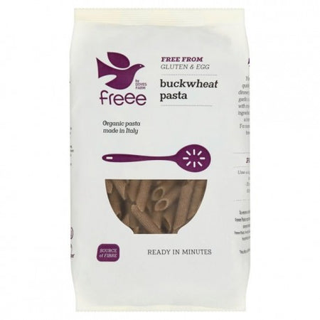Doves Farm Organic Buckwheat Pasta Penne 500g, Free from Gluten Free & Egg
