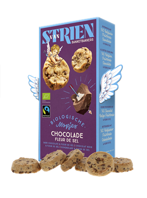 Van Strien Banketbakkers Organic Butter Cookie with Chocolate and Fleur de sel 120g