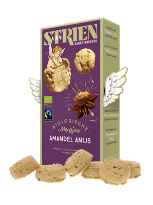 Van Strien Banketbakkers Organic Butter Cookie with Aniseed and Almond 120g