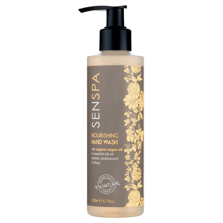 Senspa Nourishing hand Wash with Argan Oil, Essential Oil of Jasmine Oil, Cedarwood & Ylang 200ml