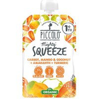 Piccolo Organic Mighty Squeeze Carrot, Mango & Coconut + Amaranth + Turmeric 100g