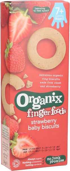 Organix Finger Foods Strawberry Baby Biscuits Strawberry (7+ months) 54g