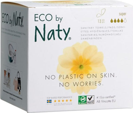 Eco by Naty Super Sanitary Pads, 13 pieces