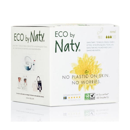 Eco by Naty Normal Sanitary Pads, 15 pieces