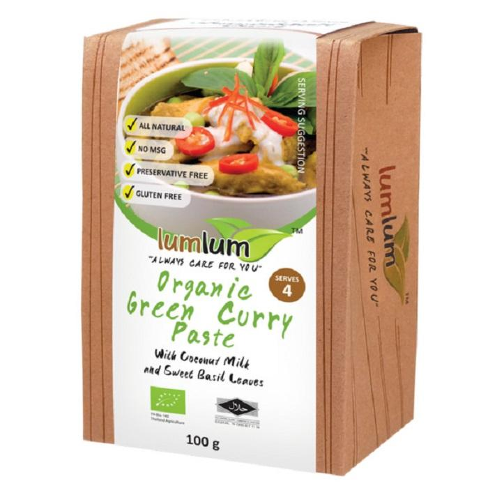 Lumlum Organic Green Curry Paste 100g