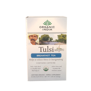 Tulsi Organic India Breakfast 18 Infusion Bags