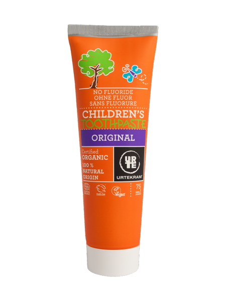 Urtekram Organic Children's Toothpaste Original 75ml, No Flouride