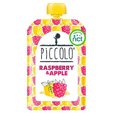 Piccolo Organic Raspberry and Apple 100 gr