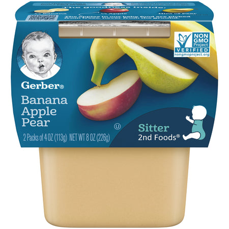 Gerber Banana Apple Pear Sitter 2nd Foods 226g