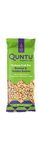 Quntu Organic Quinoa Fruit Bar with Banana & Golden Raisins 35g