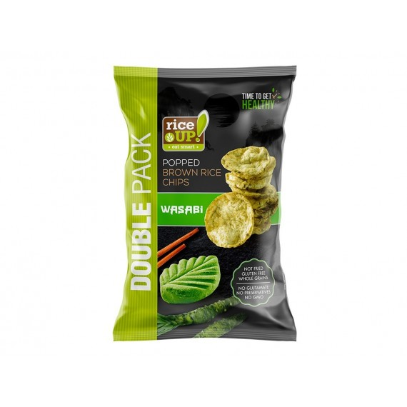 Rice Up Popped Brown Rice Chips Wasabi 120g