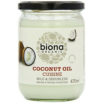 Biona Organic Coconut Oil Cuisine Mild & Odourless 470ml