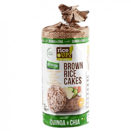 Rice Up All Natural Brown Rice Cakes with Quinoa & Chia 120g