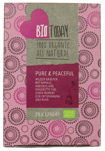 Bio Today Organic Pure & Peaceful Tea, 20 bags