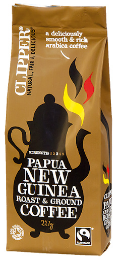 Clipper Organic Papua New Guinea Roast & Ground Coffee 227g
