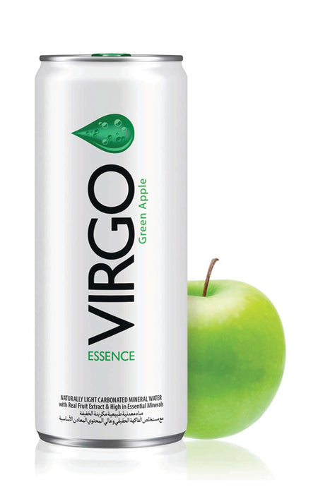 Virgo Green Apple Essence  Naturally Light Carbonated Mineral Water 250ml