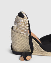 Load image into Gallery viewer, CARINA ESPADRILLE WEDGE 9CM | BLACK | CASTANER