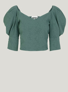 BONNIE BLOUSE | BALSAM GREEN | JUST FEMALE