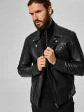 Load image into Gallery viewer, SLH B-02 BIKER LEATHER JKT W | BLACK | SELECTED
