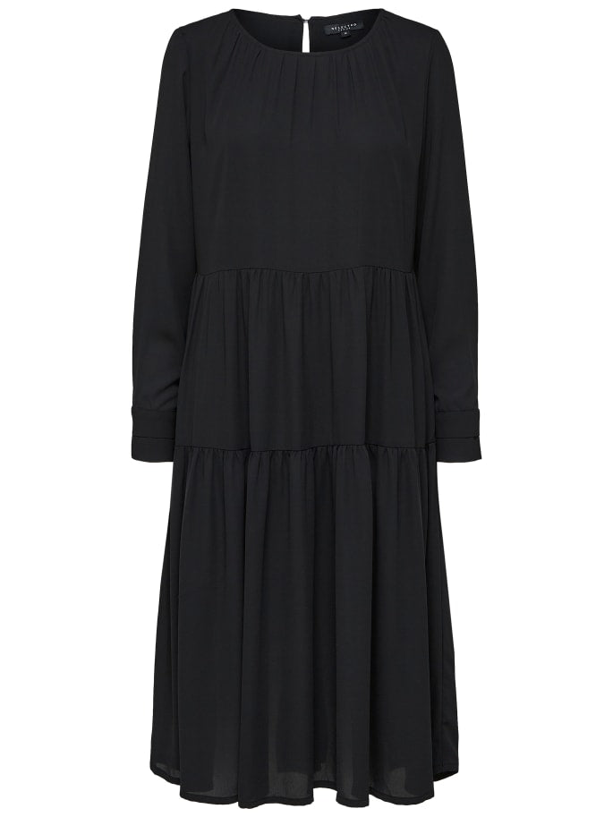 SLFDYLA MIDI DRESS | BLACK | SELECTED