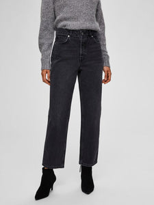 SLFKATE STRAIGHT | GREY DENIM